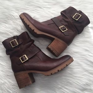 Korks Brown Amund Leather Buckle Slouch Boot